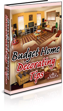 Budget Home Decorating Tips Book Cover
